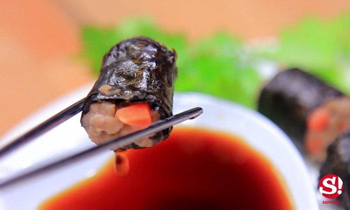 Sanook Good Stuff : สูตรทำหมูห่อสาหร่าย เองง่ายๆ ด้วยไมโครเวฟ