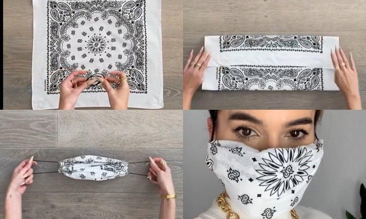 สายแฟต้องจัด! DIY หน้ากากผ้าแบบไม่ต้องเย็บ จากแฟชั่นนิสต้า