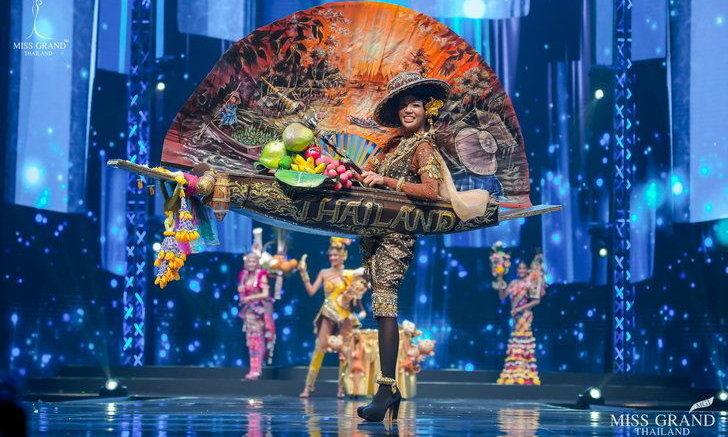 """""""มิสแกรนด์ราชบุรี"""" พาชุดตลาดน้ำดำเนินสะดวก คว้ารางวัลชุดประจำชาติยอดเยี่ยม เวทีมิสแกรนด์ไทยแลนด์ 2020"""