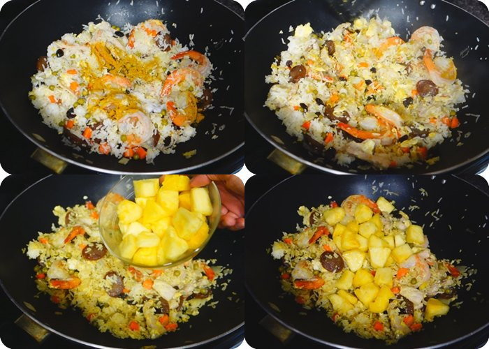วิธีทำข้าวผัดสับปะรด