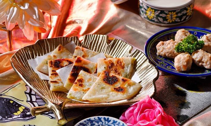 สูตรแพนเค้กต้นหอมสไตล์จีน ใช้วัตถุดิบไม่กี่อย่างในครัวก็อร่อยได้เลย