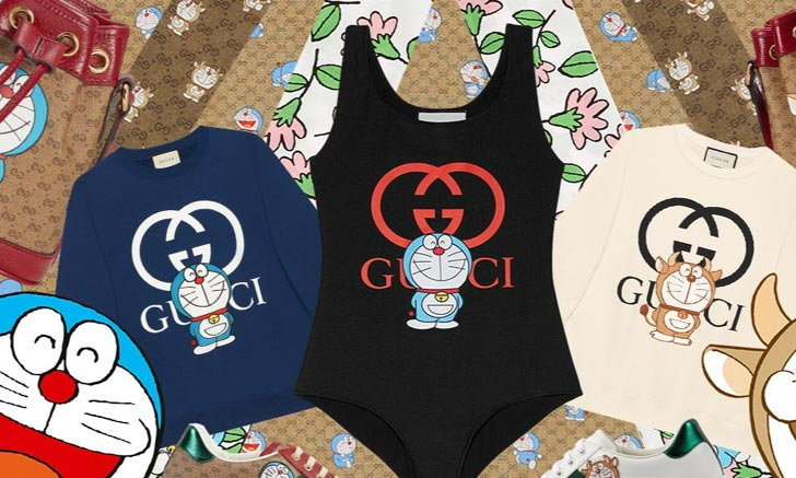 Doraemon x Gucci คอลลาบอเรชั่นสุดน่ารักเอาใจสาวกเจ้าเหมียวสีฟ้า