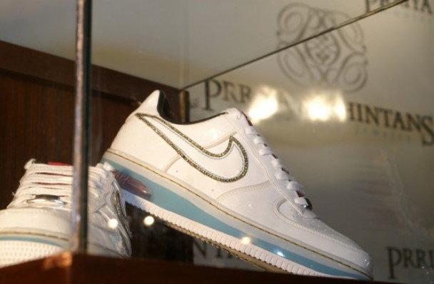 Diamond Encrusted Nike Air Force 1