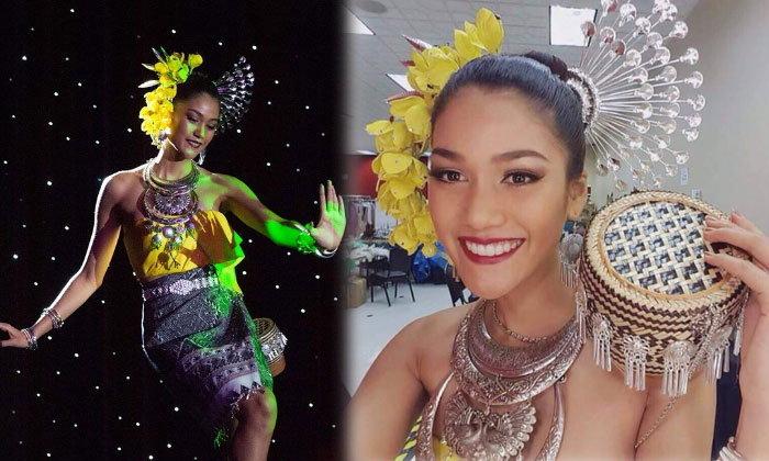สวยมาแรง! เเนท อนิพรณ์ ติด 1 ใน 10 นางงามหน้าสวย Miss Universe 2015