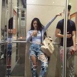 แฟชั่นกางเกงยีนส์ดารา