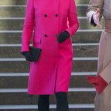 เจ้าหญิงเคทกับเสื้อโค้ทสีชมพู ของแบรนด์ Mulberry