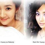 Park Min Young, ดาราไม่แต่งหน้า