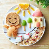 ศิลปะสร้างสรรค์บนจานอาหาร