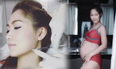 คนท้องก็สวยได้ด้วยเข็ม! น้ำหวาน แฟน นาวิน ต้าร์ ทำหน้าเรียวเล็ก เป๊ะเข้ารูป