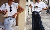 10 ลุคเปลี่ยนเสื้อยืดขาวธรรมดา ให้ดูสวย ชิค แพงแบบไฮสตรีทแฟชั่น