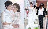 """""""แนท ณัฐชา"""" กับ 3 ชุดแต่งงานหลักล้าน ปักเพชรสุดอลังการ งดงาม ดั่งเจ้าหญิง"""