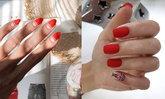 ไอเดียทำเล็บสีแดงมินิมอล ให้มือสวยดูแพง!