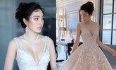 """""""เมย์ พิชญ์นาฏ"""" ออร่าเจ้าสาวจับ สวยหวานในชุดแต่งงานแบรนด์ไทย"""