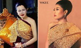 เจ้าฟ้าสิริวัณณวรีฯ ในฉลองพระองค์ชุดไทยตามแบบอย่าง สมเด็จพระบรมราชชนนีพันปีหลวง