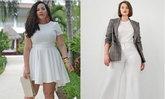 เรียบแต่เริ่ด! แฟชั่นแต่งชุดขาวสำหรับสาว Plus Size แบบมีสไตล์