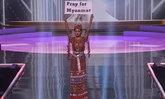 """""""มิสยูนิเวิร์สเมียนมา"""" โพสต์ซึ้งถึงชุดประจำชาติสำรองอันทรงพลังบนเวที Miss Universe 2020"""