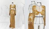 """แบรนด์ """"Valentier"""" เปิดขาย """"ชุดราตรีสีทอง"""" ที่อแมนด้าใส่รอบพรีลิม ราคา 5.9 แสน"""