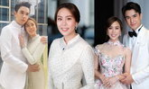 """""""เมษา กิตติมา"""" เจ้าสาวของ """"นิว ชัยพล"""" สวยสง่ากับชุดไทยประยุกต์ ในพิธีหมั้น"""