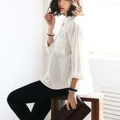 เสื้อแขนยาวสีขาว