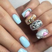 เล็บลาย Tom and Jerry