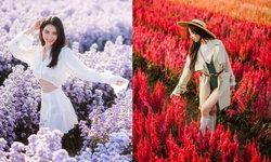 ไอเดียถ่ายรูปกับทุ่งดอกไม้ โพสท่าอย่างไรให้ละมุนไม่ต่างจากเจ้าหญิง