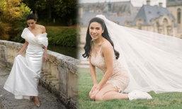 """เจ้าสาวป้ายแดง """"ครี พัสวีพิชญ์"""" กับชุดแต่งงานเรียบแต่โก้ ที่ฝรั่งเศส"""