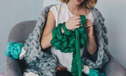 ผ้าพันคอทอมือ ทำง่ายให้ความอบอุ่น