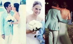 ชุดแต่งงานริมทะเล ของ แอน อลิชา
