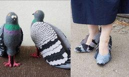 ชมแฟชั่น DIY รองส้นสูงที่จะทำให้คุณเป็นมิตรกับ 'นกพิราบ'