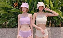 ตามดูแฟชั่นคิ้วท์ๆ ของ 2 นางแบบเกาหลี เมื่อมาเที่ยวประเทศไทย
