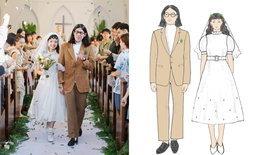 สุดเก๋! รีวิวพิธีแต่งงานแบบคริสต์ ทำเองทุกอย่าง ไม่จ้างออร์กาไนซ์ มีแต่ต้นไม้ก็ชิคได้