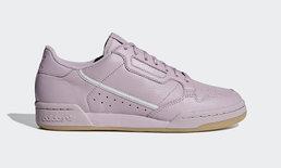 อีกแล้ว Adidas Originals Continental 80 มาในสีชมพูอมเทา มันดีมากค่ะ!