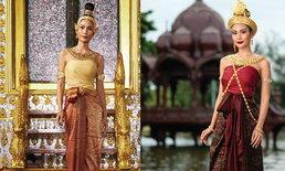 """งดงามทุกลุค """"นิ้ง โศภิดา"""" Top 10 มิสยูนิเวิร์ส 2018 ถ่ายปฏิทินในชุดไทยยุคสมัยต่างๆ"""