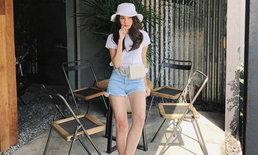 """เก็ทแฟชั่น """"เสื้อยืดสีขาว"""" ไอเทมที่สาวๆ ต้องมี! แมทช์ลุคไหนก็สวยชิค สไตล์ดารา-ไอดอลไทย"""