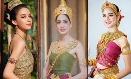 """เก็บตก """"นางสงกรานต์ 2562"""" ในชุดไทย งดงามดั่งภาพวาด"""