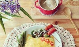 ศิลปะสร้างสรรค์บนจานอาหารจานโปรด