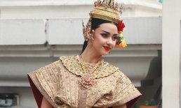 """""""อแมนด้า ชาลิสา"""" สวยสะกดตา รำแก้บน หลังคว้าตำแหน่ง Miss Universe Thailand 2020"""