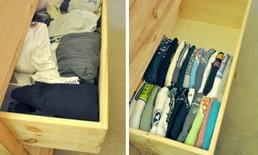 จัดตู้เสื้อผ้ารกๆ ง่ายนิดเดียว มีทริคเล็กๆ มาบอกต่อ!