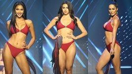 """ซูมชัดๆ Miss Universe Thailand 2021 ชุดว่ายน้ำรอบพรีลิม ที่ """"อแมนด้า"""" ร่วมออกแบบ"""