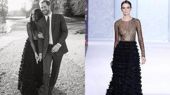 """""""เมแกน"""" เลือกสวมชุด มูลค่า 2.45 ล้านบาท ในการถ่ายรูปทางการครั้งแรกกับเจ้าชายแฮร์รี่"""