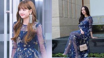 ลิซ่า BLACKPINK ไอดอลไทยในเกาหลี ใส่ชุดแบบเดียวกับอั้ม พัชราภา เดินพรมแดง