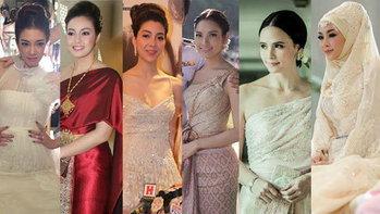 10 อันดับสุดยอดชุดแต่งงานดาราปี 2012