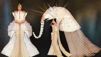 """""""ชุดช้าง"""" งามเข้าตา ชนะเลิศเป็นชุดประจำชาติไทยบนเวที Miss Universe 2018"""