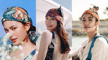 """29 ไอเดียใส่ """"ผ้าโพกหัว"""" ไอเทมเพิ่มความปังให้การแต่งตัว แบบเซเลบไทย"""