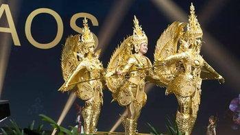 """""""ชุดกินรี """" มิสยูนิเวิร์สลาว กับรางวัลชุดประจำชาติยอดเยี่ยม เวทีมิสยูนิเวิร์ส 2018 โดยฝีมือคนไทย"""