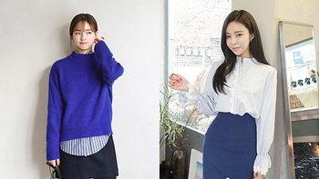 30 ไอเดียแมทช์เสื้อผ้าสีน้ำเงิน ให้ได้ลุคสไตล์เกาหลี