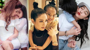 """รวมโมเมนต์น่ารัก ครอบครัว """"แม่เลี้ยงเดี่ยว"""" ดารา แสดงพลังความเป็นแม่ที่แท้จริง"""