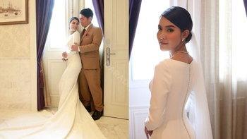 เปาวลี พรพิมล ในชุดแต่งงานมินิมอล เรียบจัด สวยหนักมาก