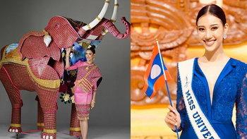 """""""เม วิจิดตา"""" มิสยูนิเวิร์สลาว กับชุดประจำชาติสุดอลังการบนเวที Miss Universe 2019"""