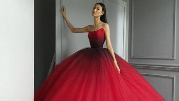 """เปิดชุดราตรี """"เฌอเอม ชญาธนุส"""" ที่จะใส่รอบตัดสินบนเวที Miss Universe Thailand 2020"""